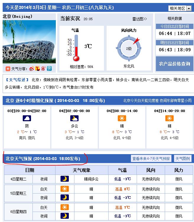 天预报_北京最近几天天气预报