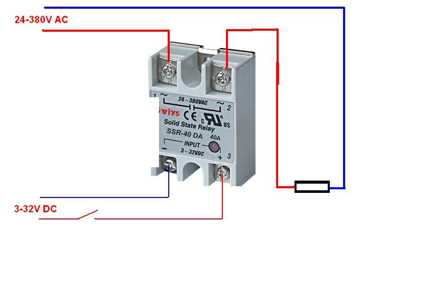求固态继电器与温度仪接线图图片