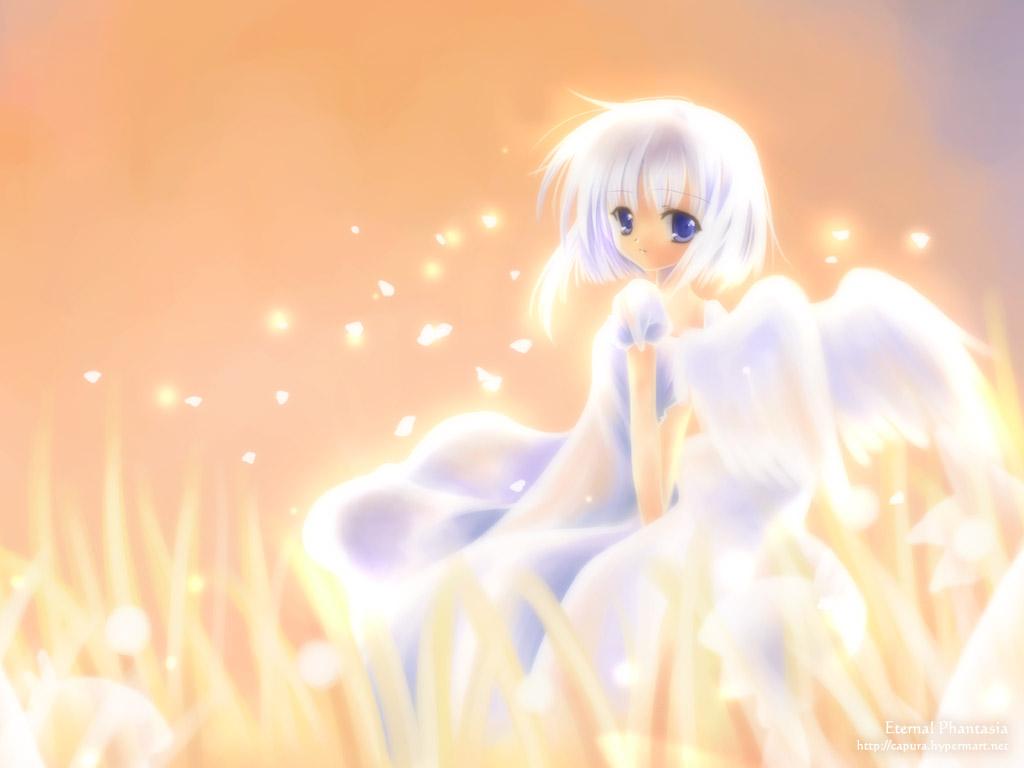 冰蓝色长发动漫女生图片