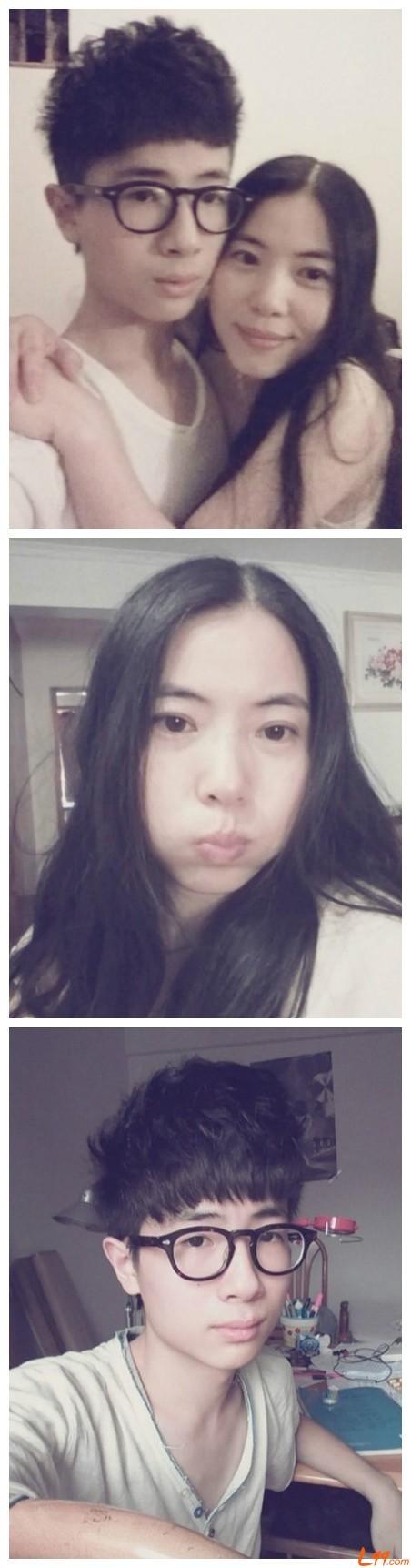 王纪庭的妈妈_采访得知,王纪庭今年16岁,照片中的女士的确是他的妈妈,平时看起来也