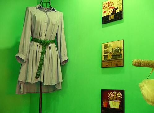 绿色的风格搭配绿色的服装 女服装店如何简单装修效果图高清图片