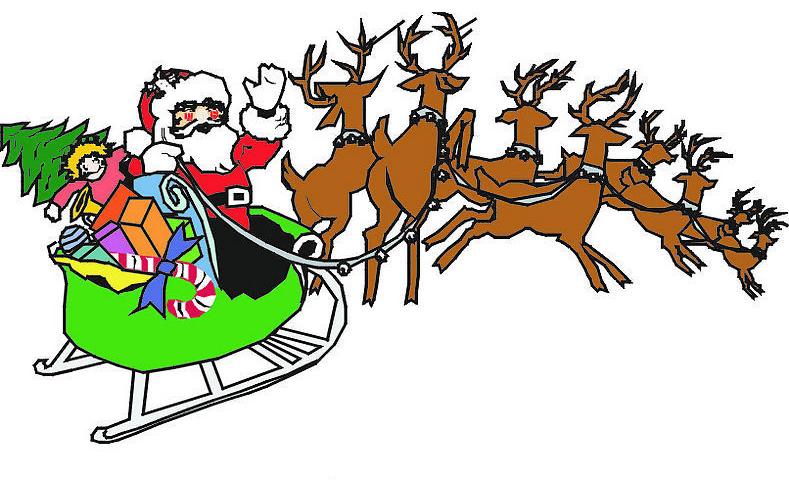 坐雪橇的圣诞老人