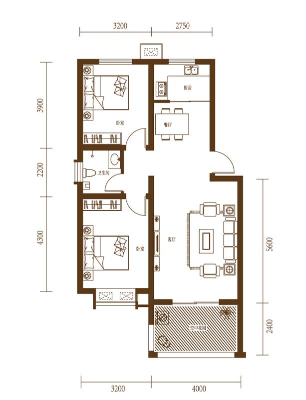 88平砖混结构两室一厅如何改小三室,有大神提供一下方案吗?附图纸.图片