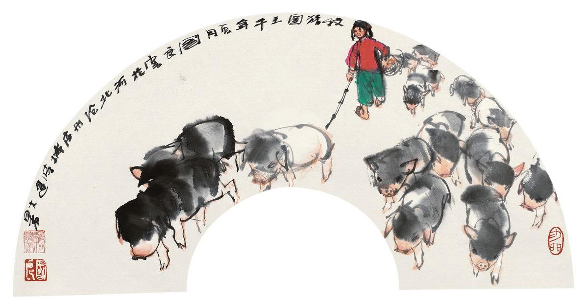 国画猪_国画 1200_627