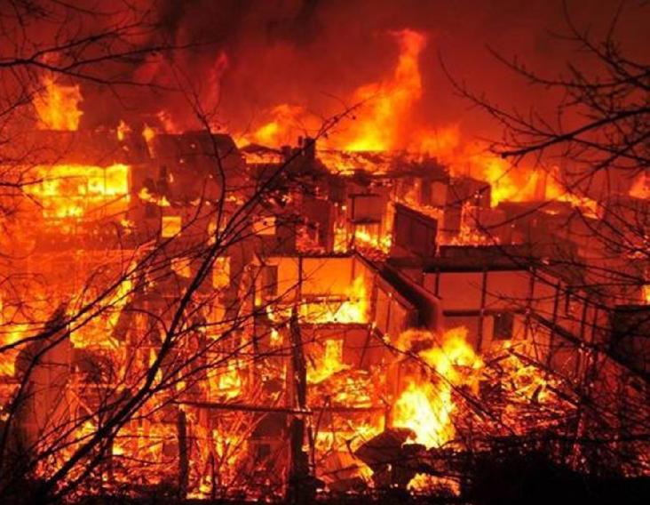 香格里拉大火