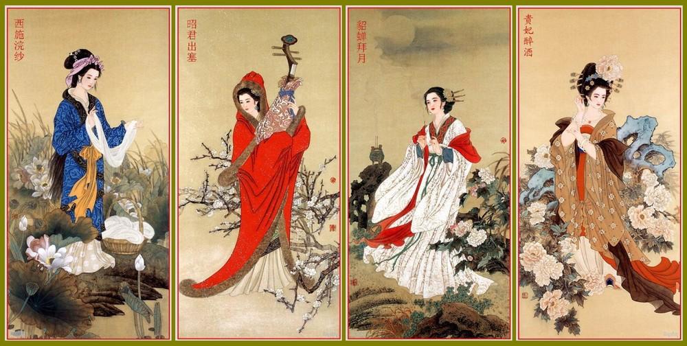 古代四大美女的真实画像