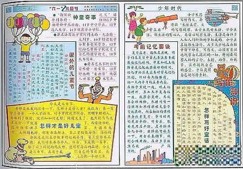 谁有六一儿童节的手抄报图片,要高年级水平.