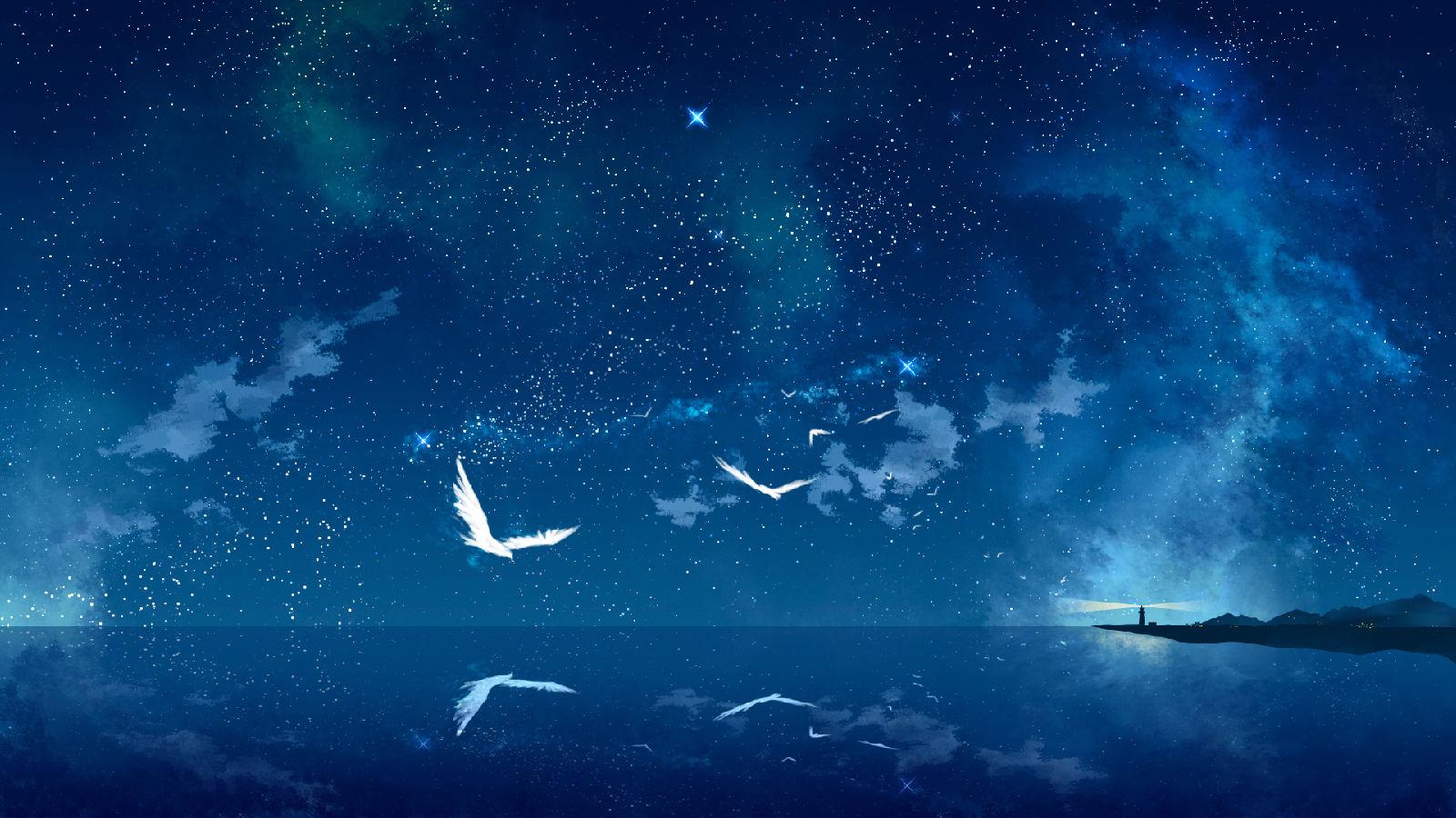 谁有类似下面的图片就是夜晚星空的 百度知道