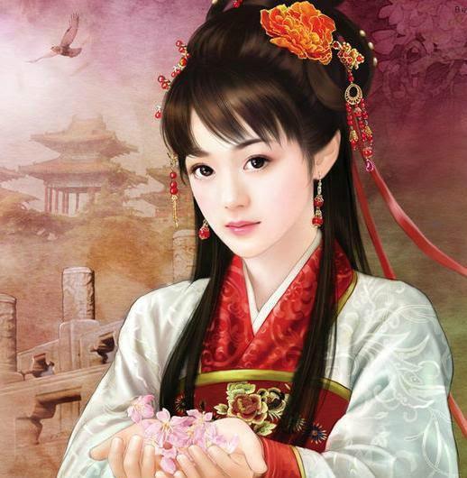 求唐代古装手绘美女图