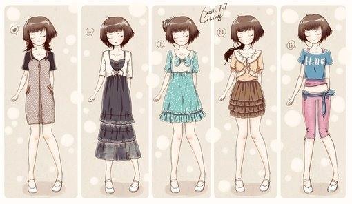 动漫服装图片