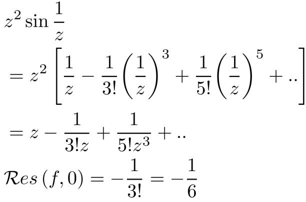 sin1/z在z=0处的留数