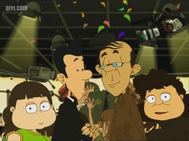 国产动画片好像有一集一家人看恐怖片他哥哥开出租图片