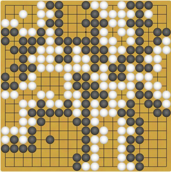 求教下围棋的朋友,图片里的棋局谁赢了?图片