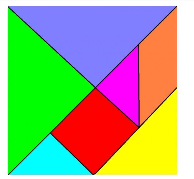 求七巧板的矢量图图片
