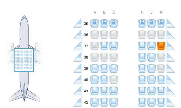 南航空客320经济舱座位哪些不在机翼上,看风景好不吵?图片
