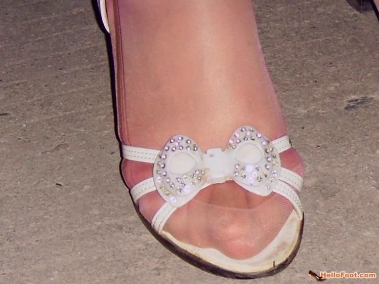 裹脚尖脚女人脚趾一双漂亮的小裹脚