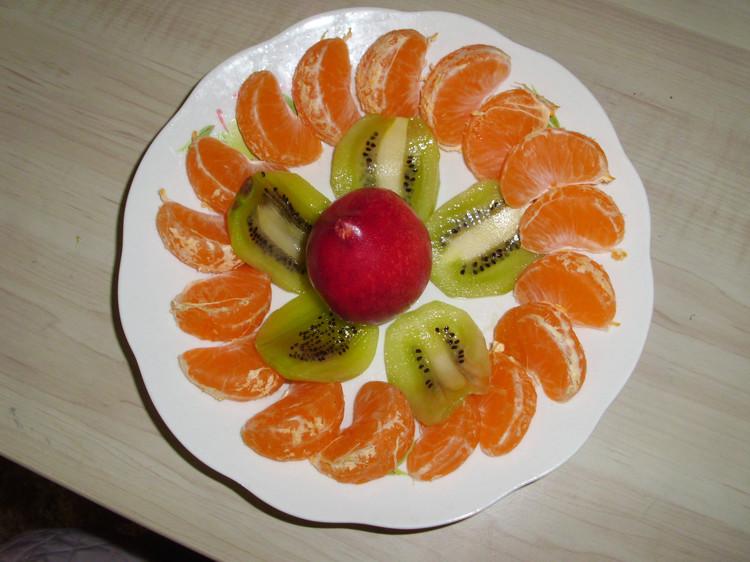 桔子怎么摆盘才好看图片