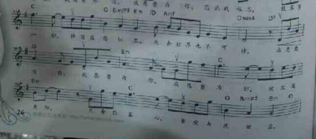 小提琴谱图片