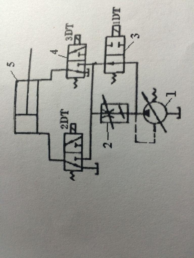 分析液压回路图,液压油怎么流动图片