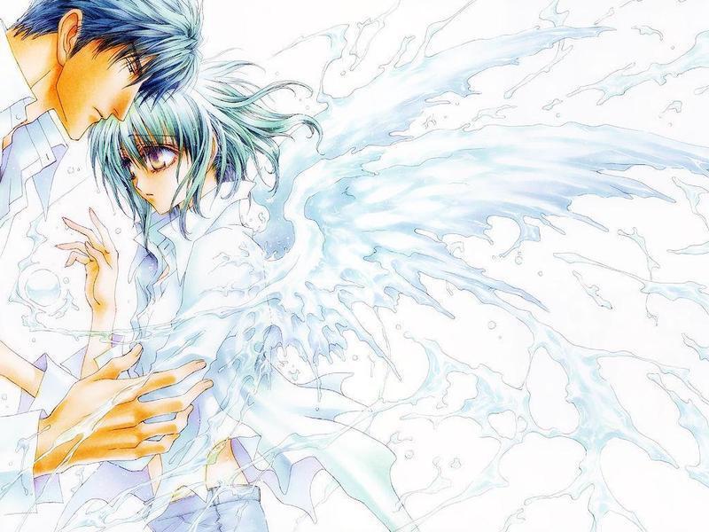 带翅膀的漫画帅哥美女