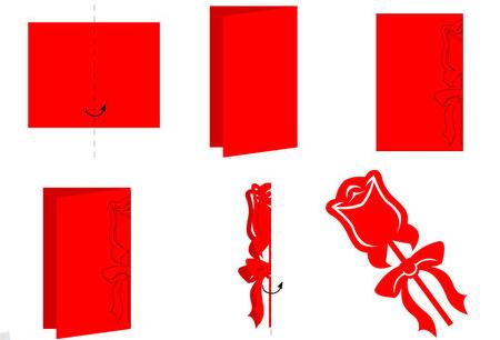 简单剪纸花步骤图解