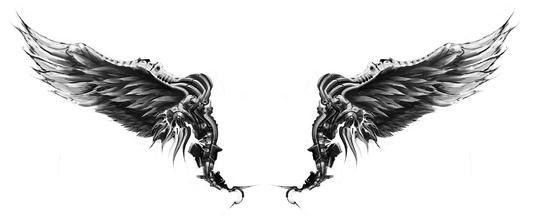 美女锁骨天使翅膀纹身作品及意义_纹身图案