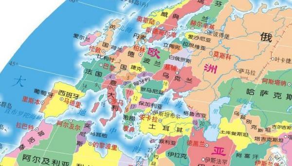 欧洲地图图片