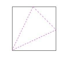 正方形折叠成三棱锥