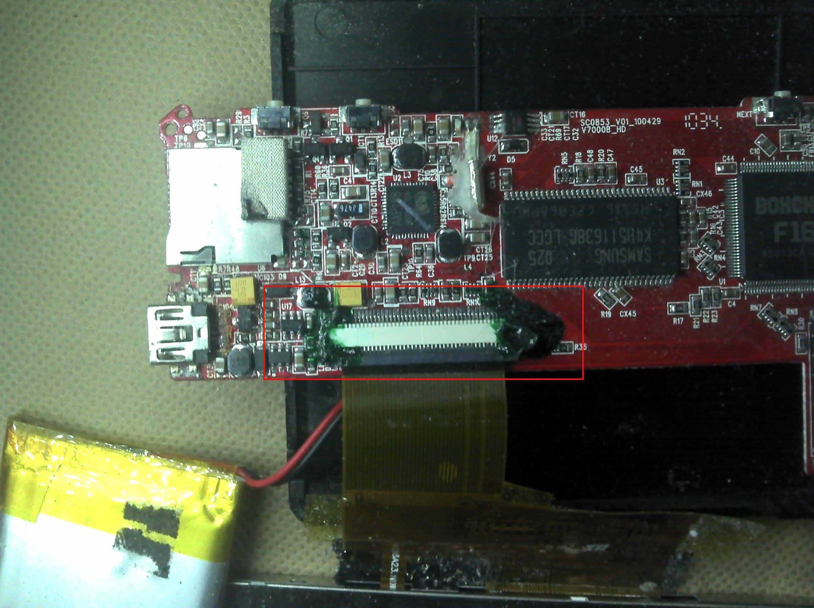 mp4液晶屏和主板的排线怎么连高清图片