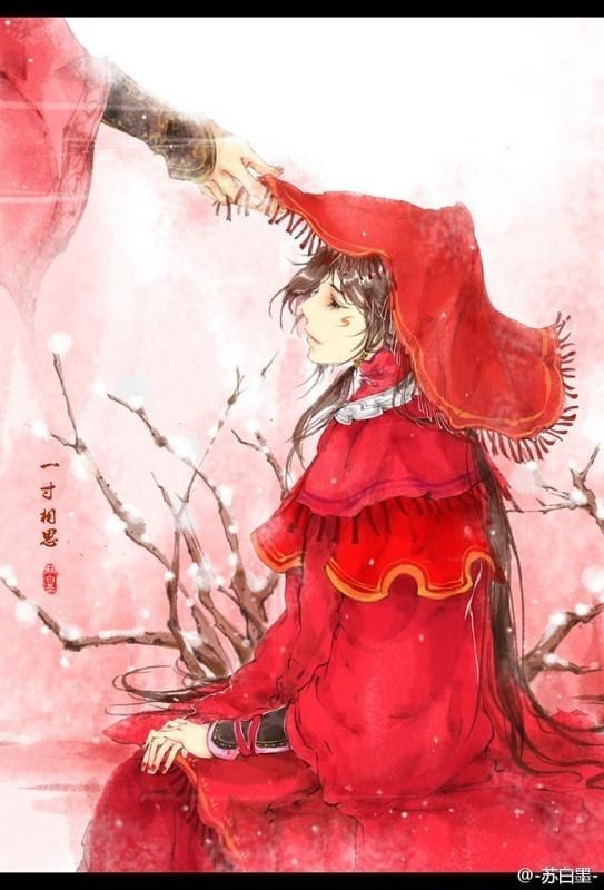 有木有红衣古风美人图