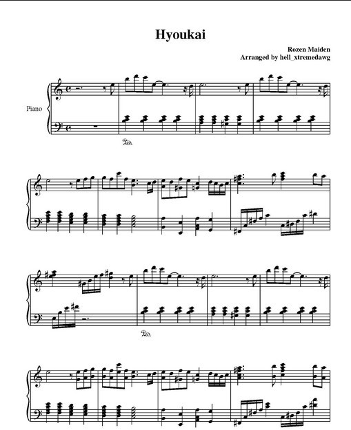 狼与美女的钢琴谱分享 狼与美女的钢琴谱图片