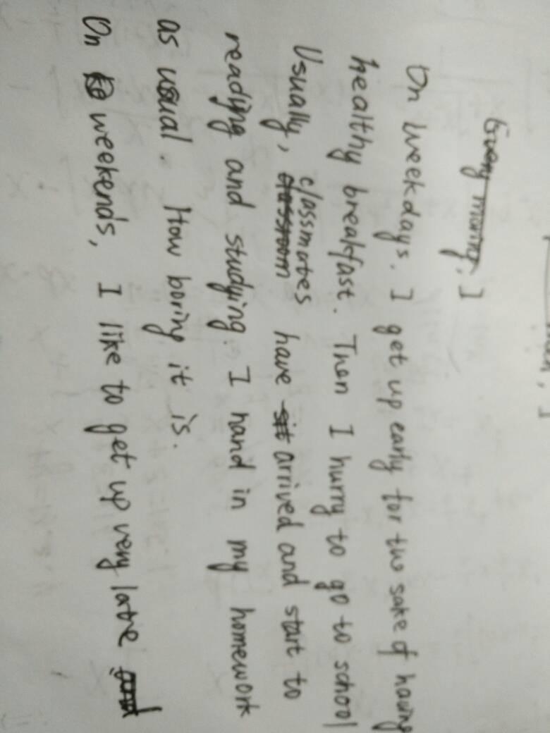 英语作文mymorning