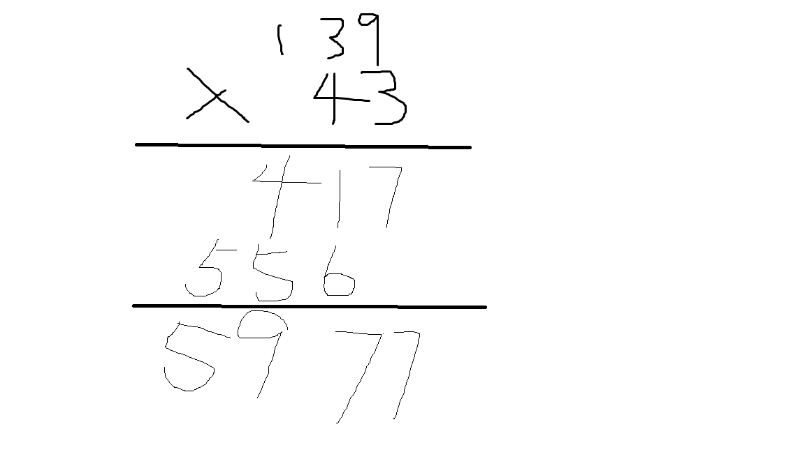 43×139等于