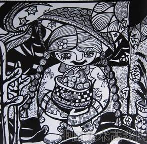 现在都还没搞清川美的设计基础是怎样的 是设计素描还是黑白装饰画图片