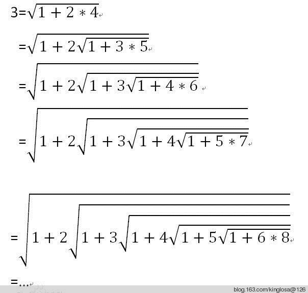 1拉马努金恒等式是以他名字而命名的一个数学公式.
