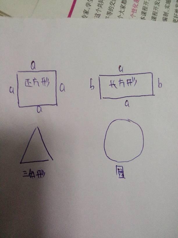 正方形,长方形,三角形.圆形都是什么图形呢!求解图片
