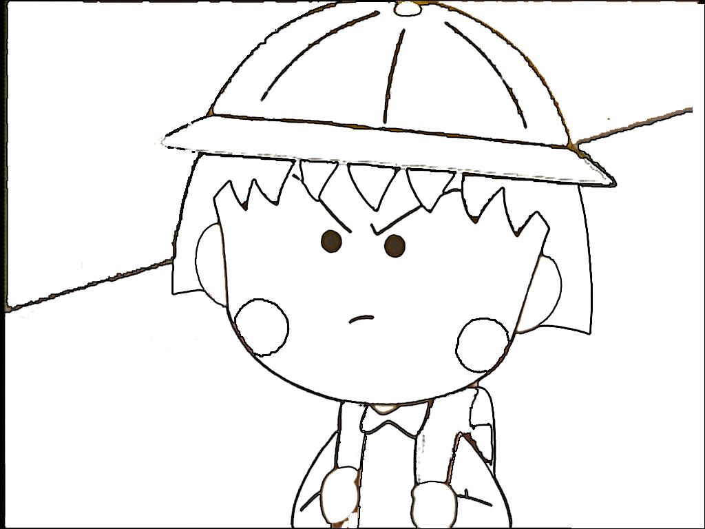 樱桃小丸子简笔画,求!图片