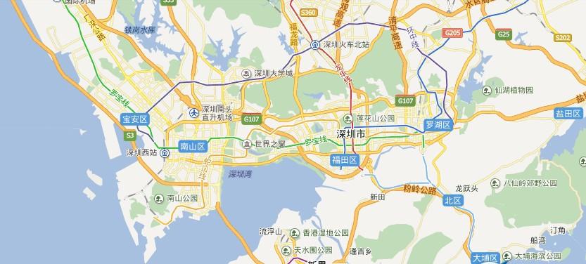 深圳电子地图【相关词_ 深圳市地图电子版】图片