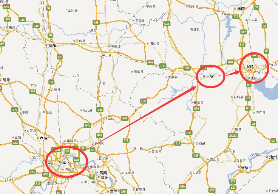 武汉到六安多少公里