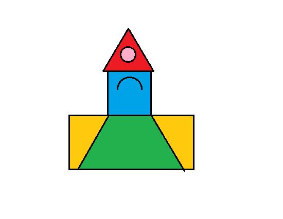 长方形,正方形,三角形,圆和梯形都是轴对称图形.图片