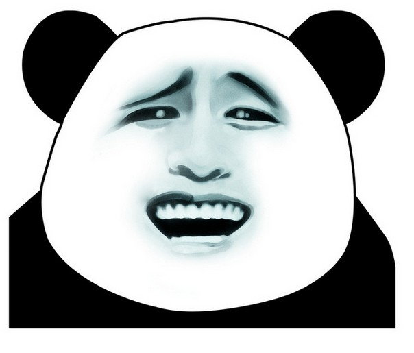 熊猫表情矢量图__其他设计   恶搞金馆长熊猫表情系列(十二)高清图片
