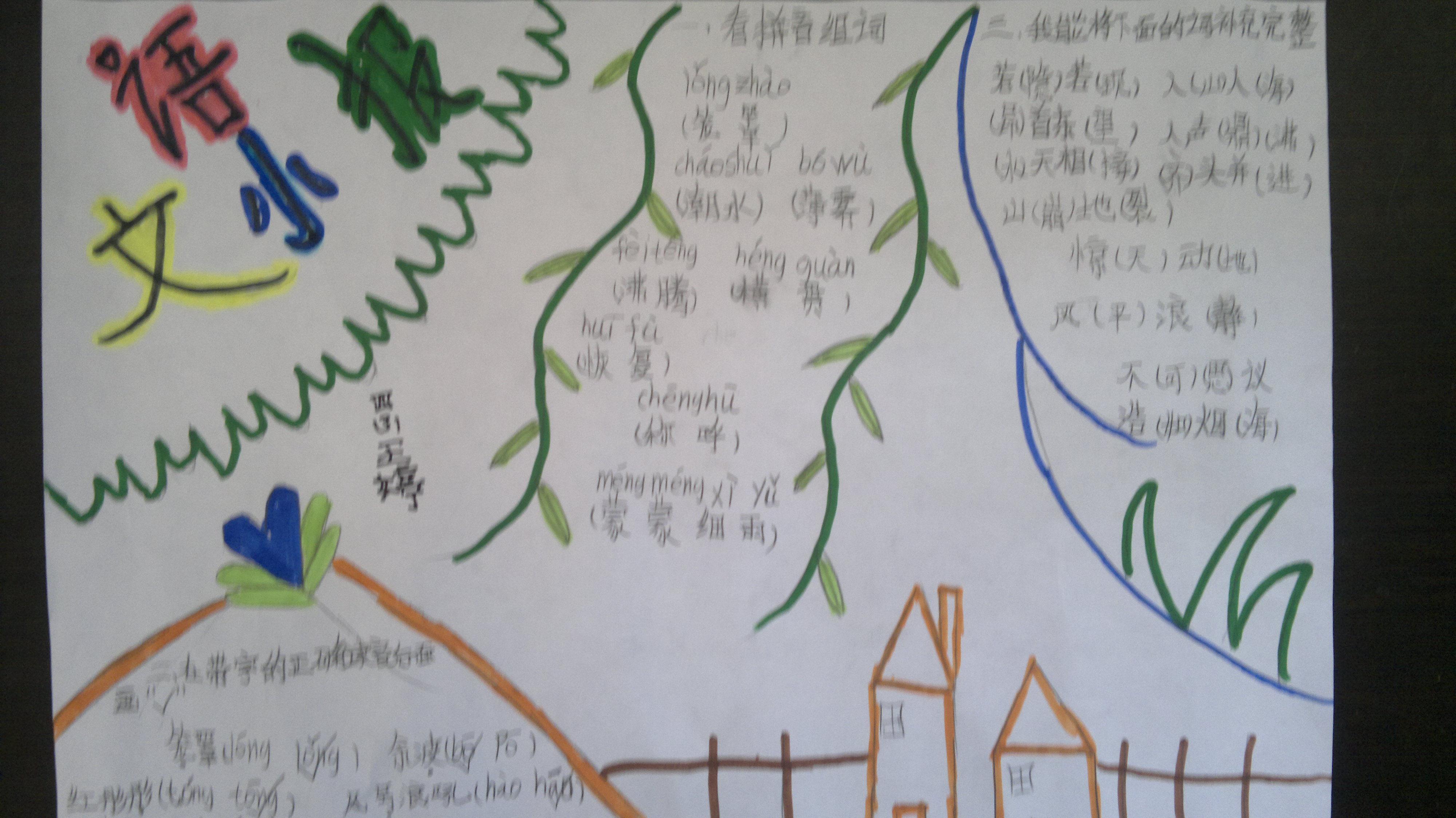 小学生三年级手抄报语文字怎么写