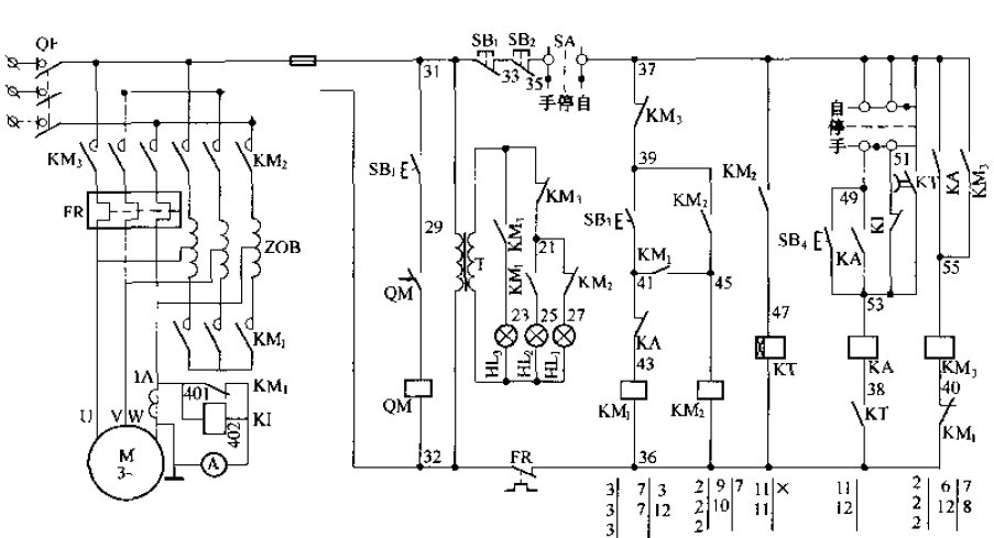 请教电气制图方面的专家,自耦减压启动控制柜电路原理图片
