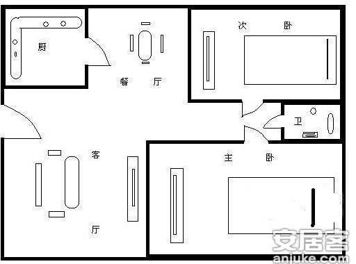 两室两厅一厨一卫,改三室一厅,高层使用面积70,怎样改比较好(图17)