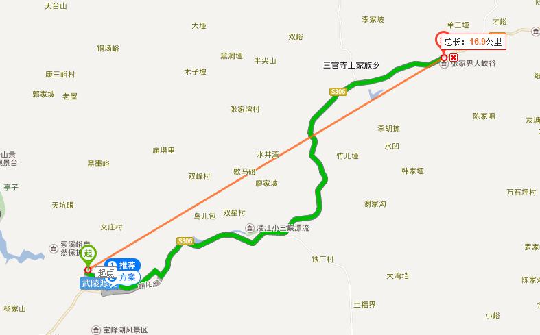 武陵源怎么到大峡谷