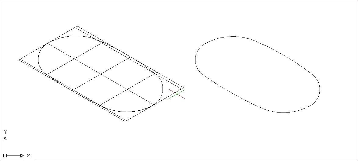 用辅助线画,线在轴测图里画个长方形(根据你要画的椭圆直径画),然后图片