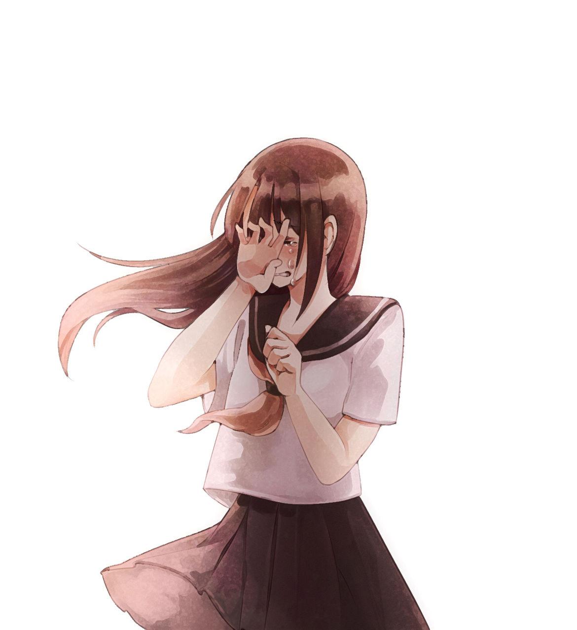 女孩哭泣的图片
