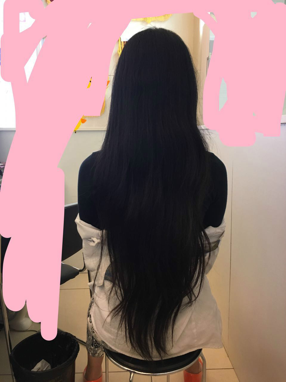 哪里回收长头发? 本人头发及腰,黑色,无染烫.头发比较图片