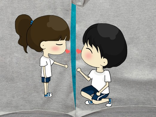 男孩和女孩是朋友关系!不是恋人!