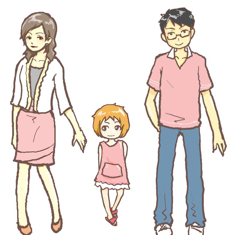 我们都是一家人漫画_可以给我张一家人的那种卡通图么?就最简单的爸爸妈妈